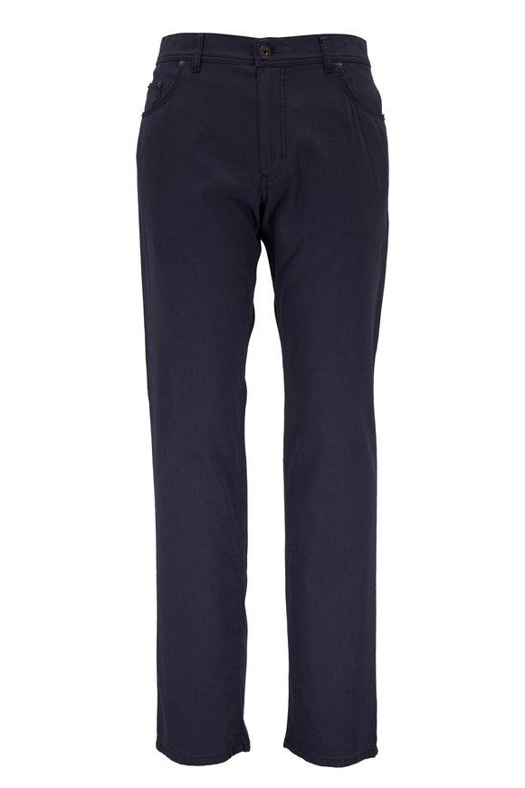 Brax Cooper Navy Stretch Cotton Five Pocket Pant
