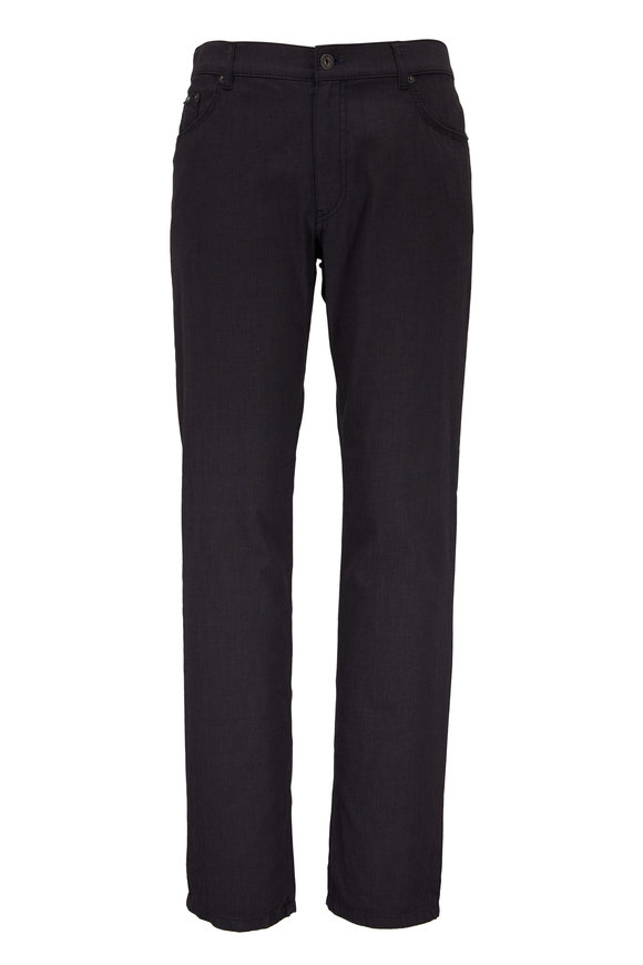Brax Cooper Charcoal Gray Cotton Five Pocket Pant