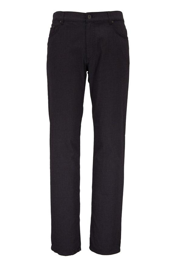 Brax Cooper Charcoal Gray Cotton Five Pocket Pant