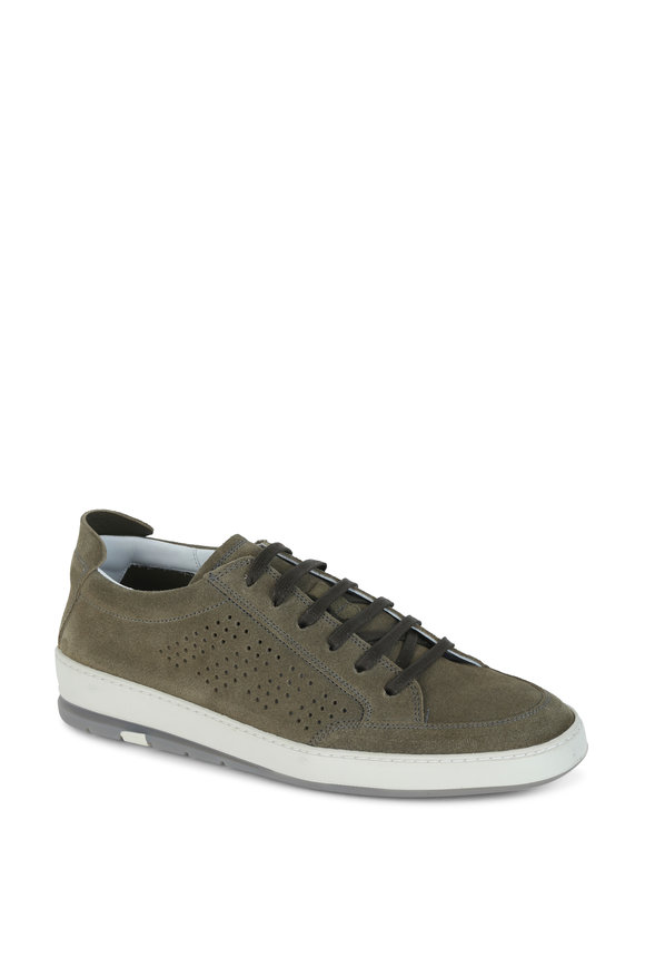 Heschung Escape Light Olive Suede Sneaker