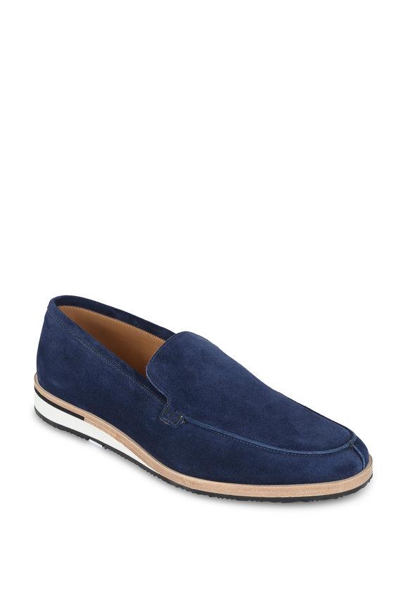 Heschung Rhodes Blue Suede Slip-On Sneaker