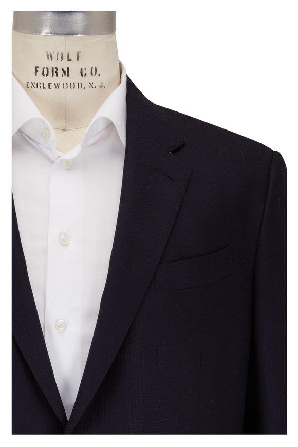 Ermenegildo Zegna Navy Wool & Silk Sportcoat