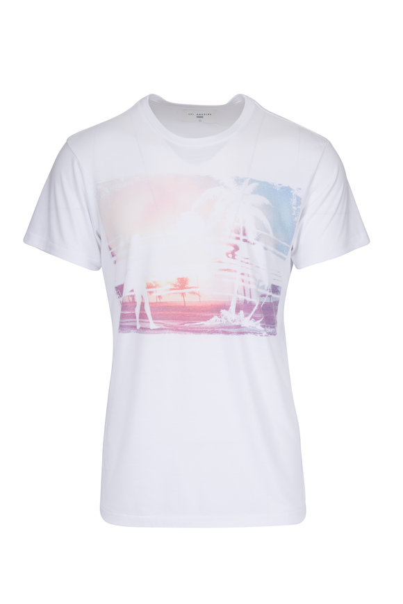 Sol Angeles White Wash Out Crewneck T-Shirt