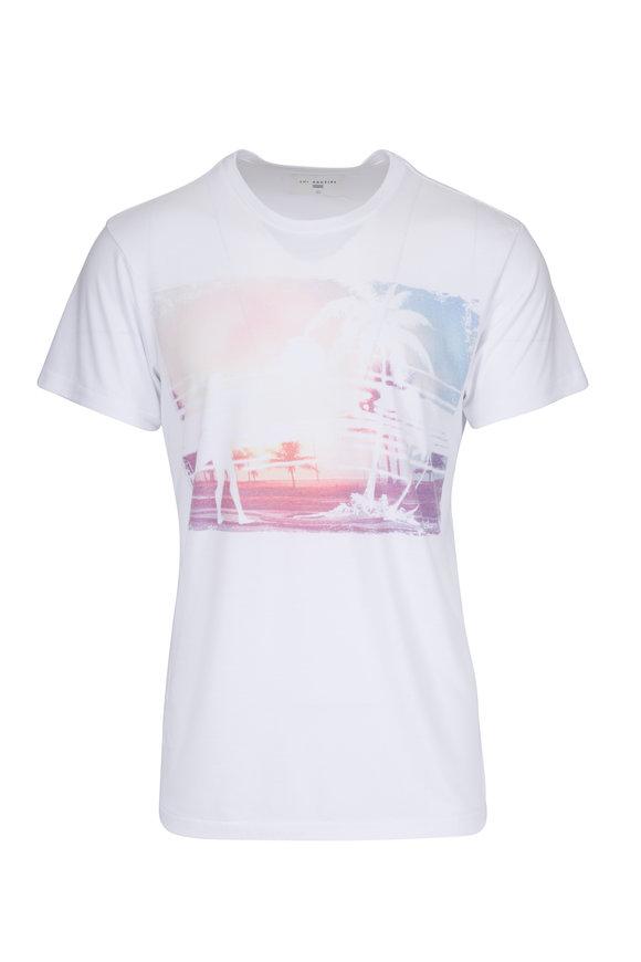 Sol Angeles White Wash Out Crewneck T-Shirt