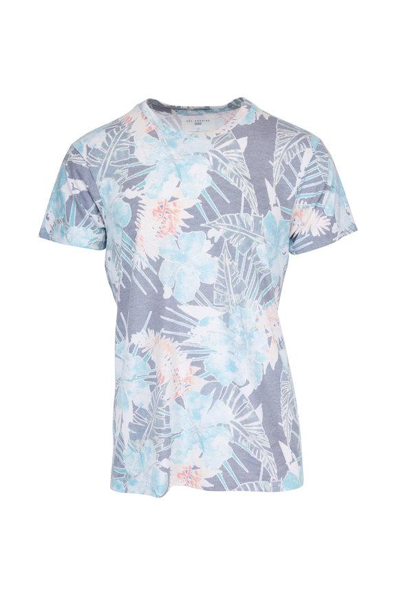 Sol Angeles Blue Multicolor Botanica Crewneck T-Shirt