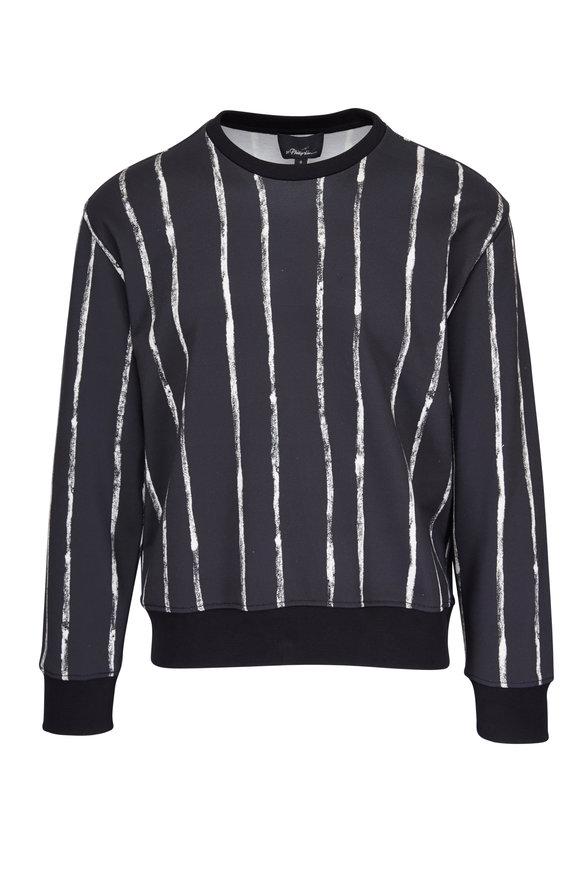 3.1 Phillip Lim Boxy Black & White Striped Sweatshirt