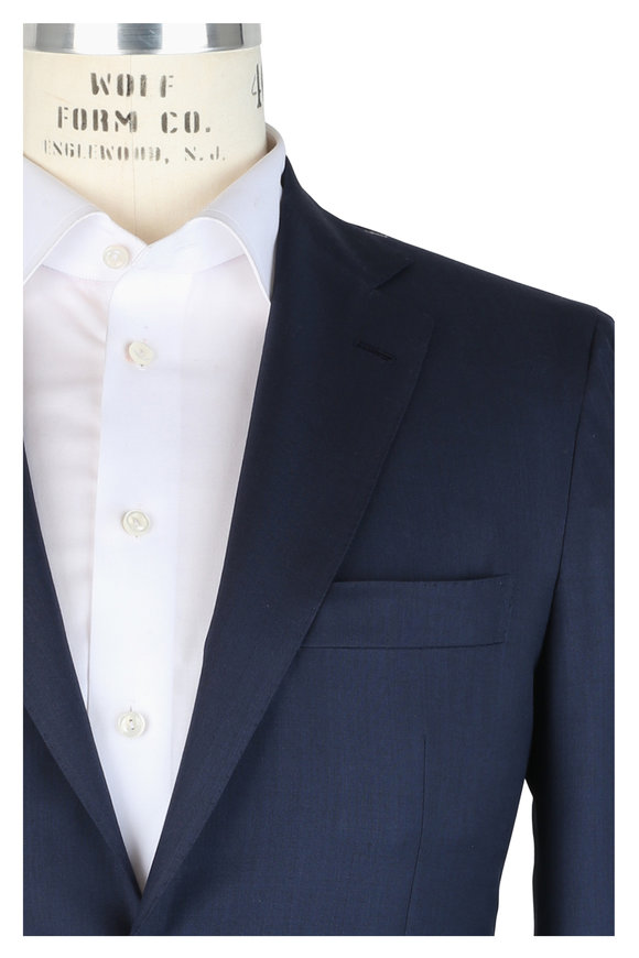 Kiton Navy Blue Wool Suit