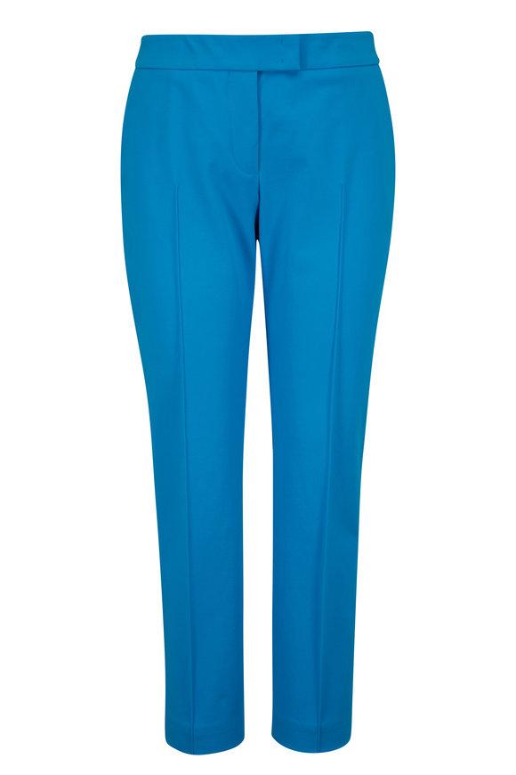 Akris Punto Frankie Turquoise Slim Pant
