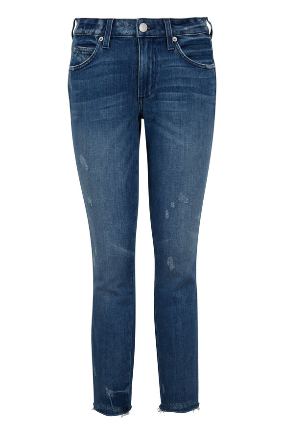 Amo Distressed Frayed Hem Jean