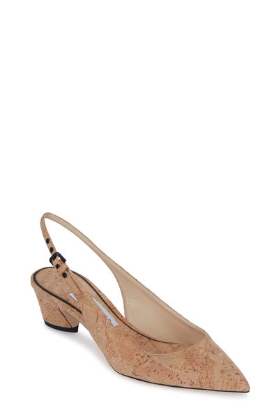 Jimmy Choo - Gemma Nude Cork Slingback, 40mm