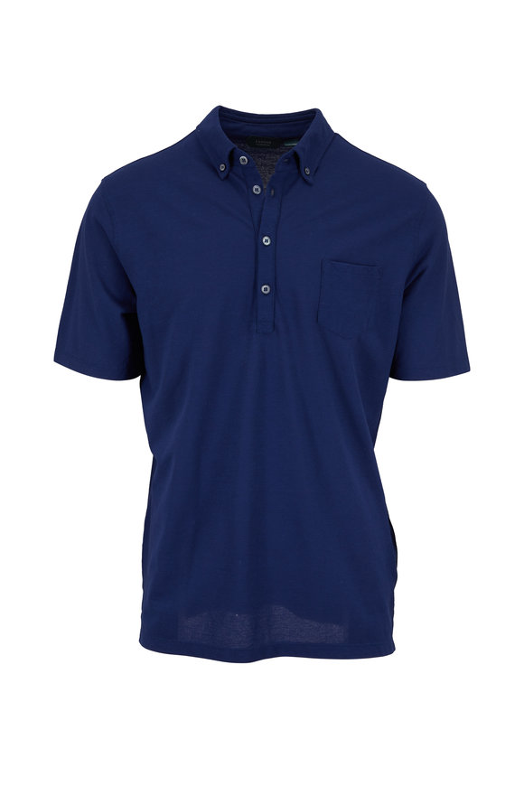 Zanone Blue Ice Cotton Polo