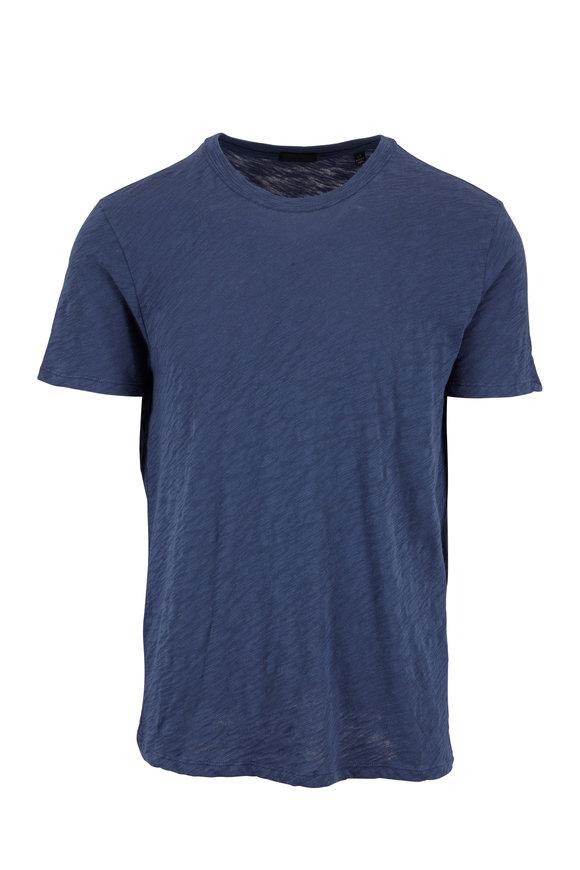 A T M Denim Blue Slub Cotton T-Shirt