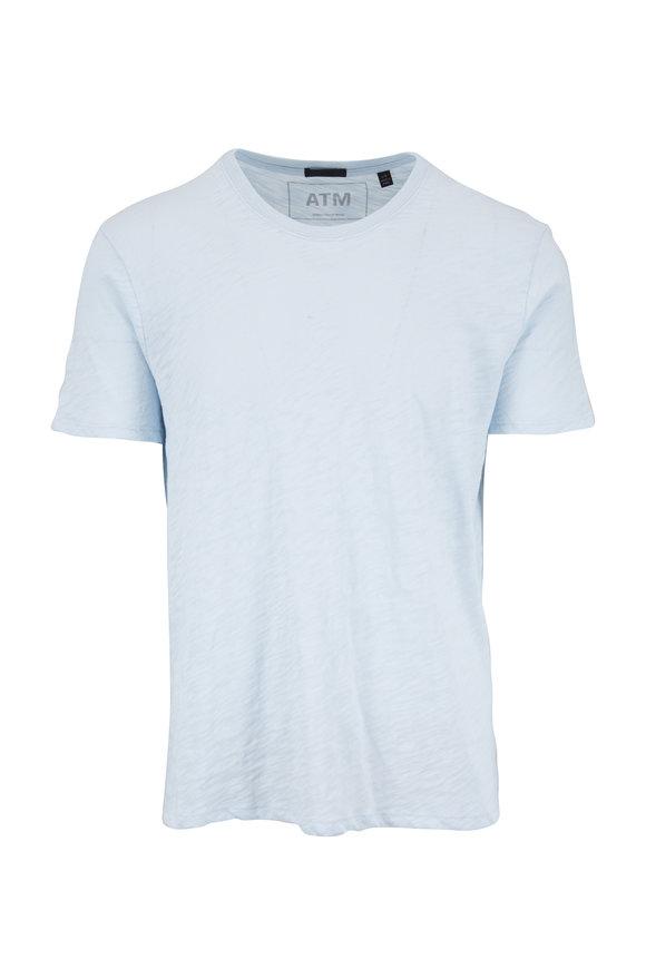 A T M Sky Blue Slub Cotton Jersey T-Shirt
