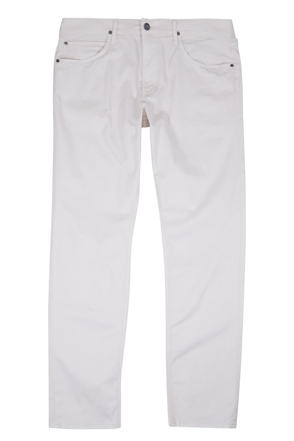 Hudson Clothing Blake Off-White Slim Straight Jean