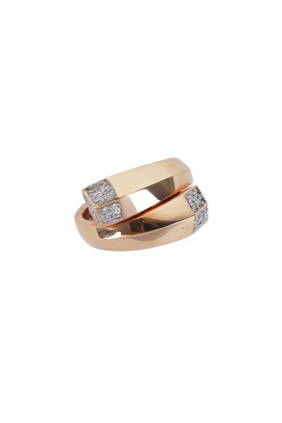 Paolo Costagli 18K Rose Gold Diamond Brillante Ring