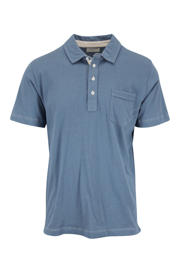 Billy Reid Pensacola Faded Blue Polo