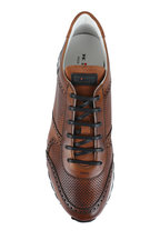 Kiton - Brown Perforated Leather Sneaker