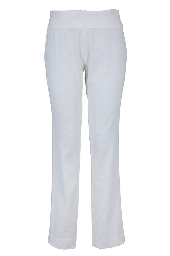 Donna Degnan White Pull-On Pant