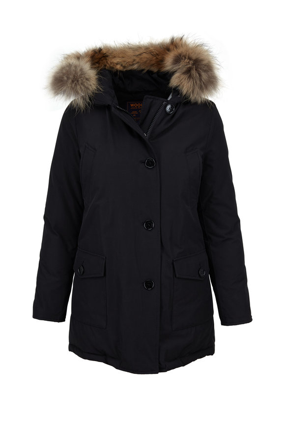 Woolrich Arctic Black Hooded Parka