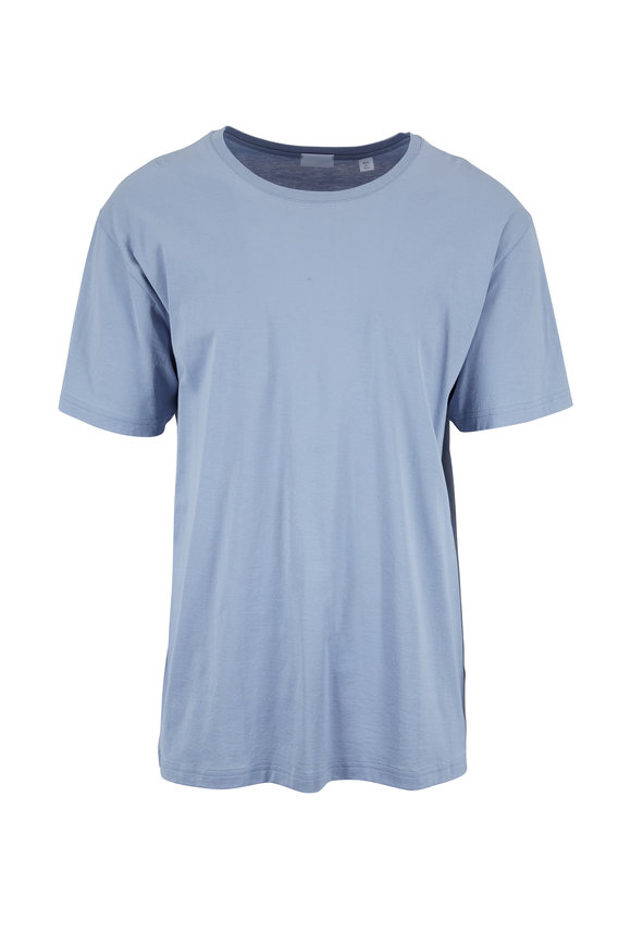 Handvaerk Dusty Blue Crewneck T-Shirt