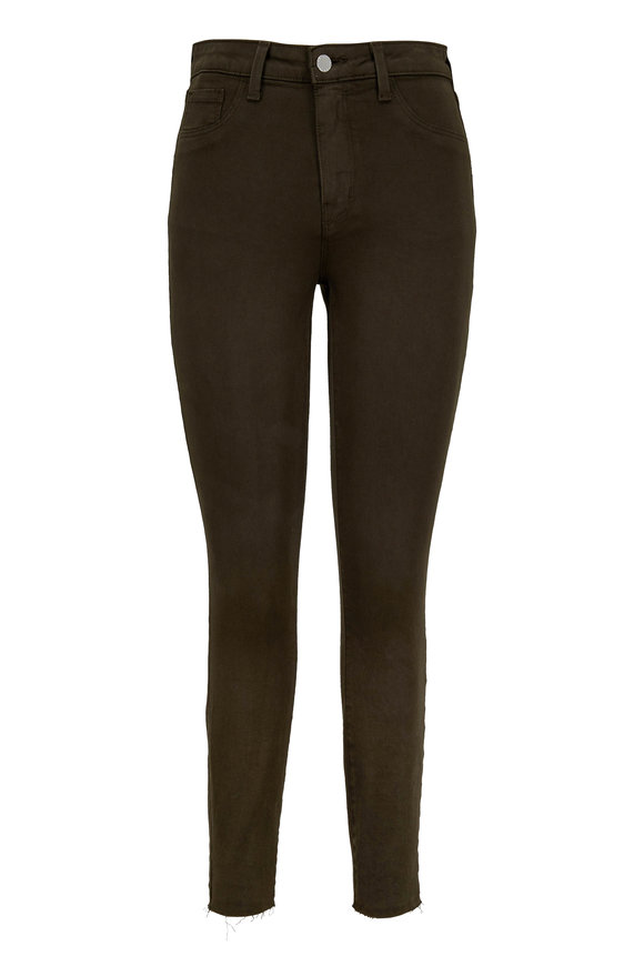 L'Agence Margot Army Green High-Rise Skinny Jean