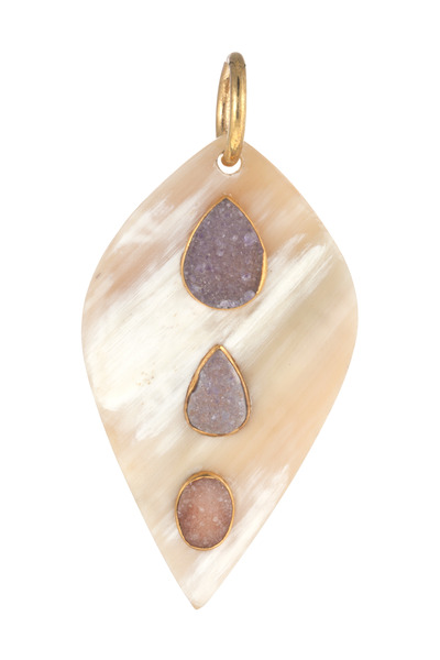 Ashley Pittman - Teardrop Druzy Pendant