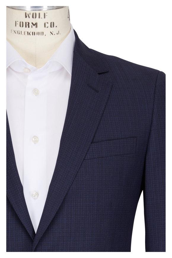 Lanvin Attitude Navy Wool Mini-Texture Suit