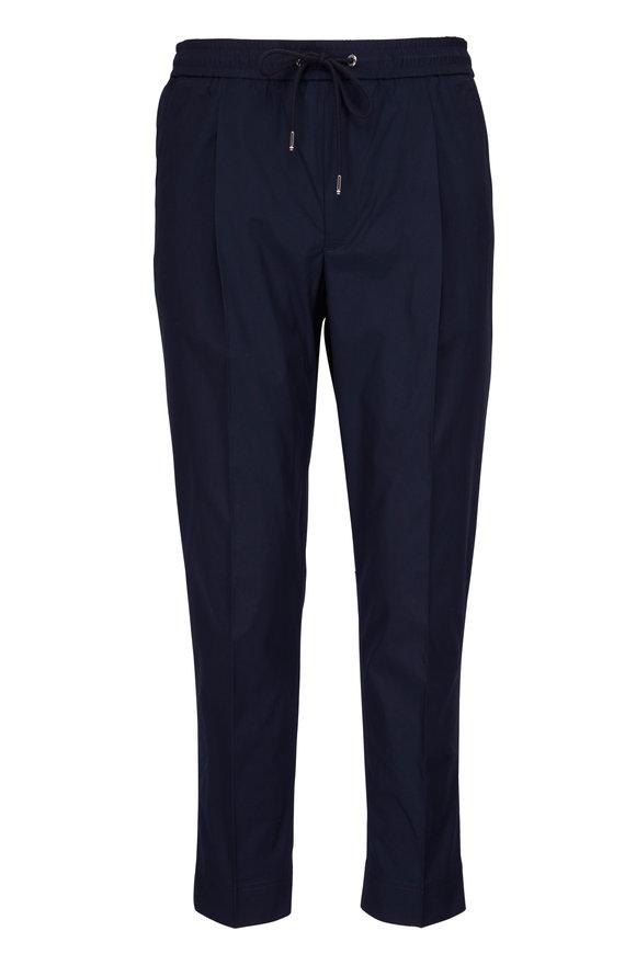 Moncler Navy Drawstring Pant