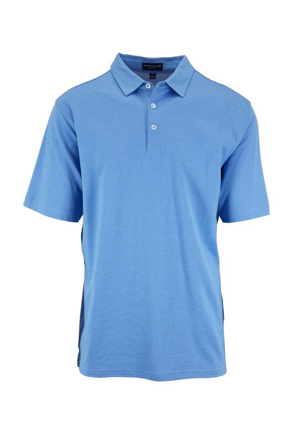 Peter Millar Blue Perfect Piquè Short Sleeve Polo