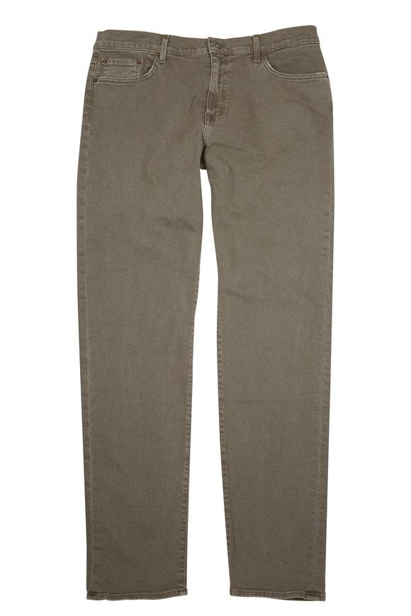 Baldwin Henley Green Slim Straight Pant