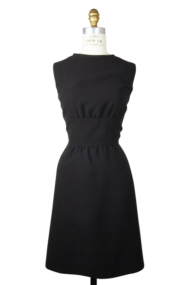 Black Sleeveless Inset Waist Dress