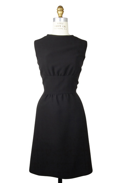 Kiton - Black Sleeveless Inset Waist Dress