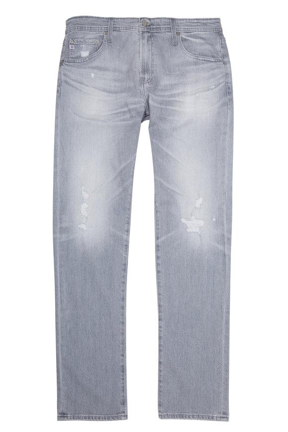 AG - Adriano Goldschmied Tellis Grey Distressed Jean