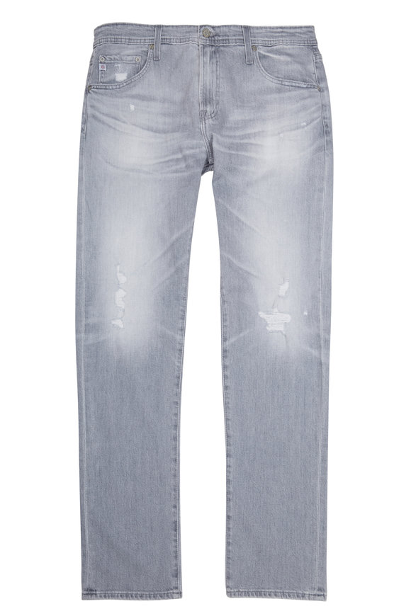 AG - Adriano Goldschmied Tellis Grey Distressed Jean