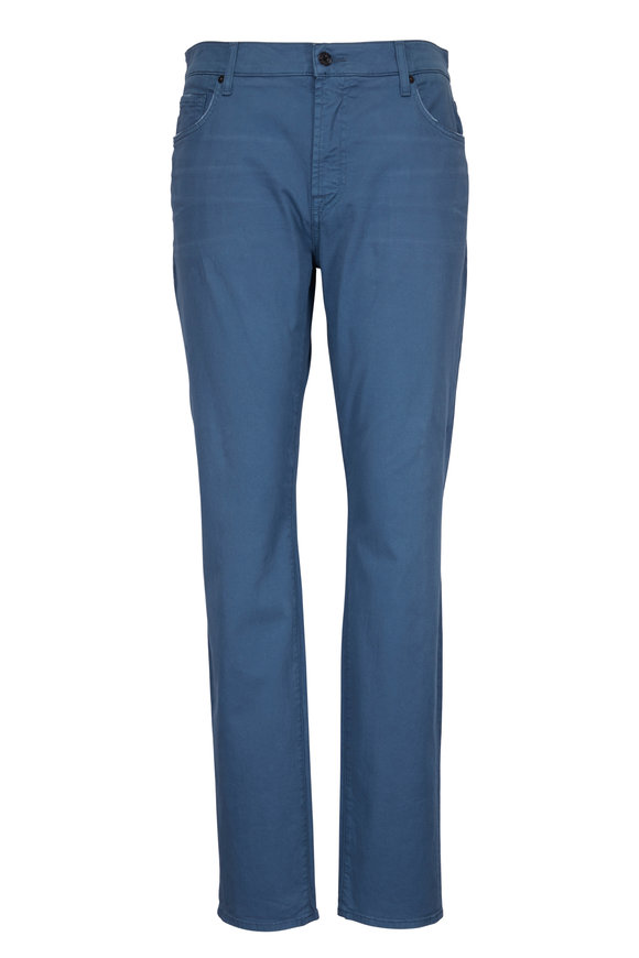 7 For All Mankind Adrien Blue Slim Tapered Pant