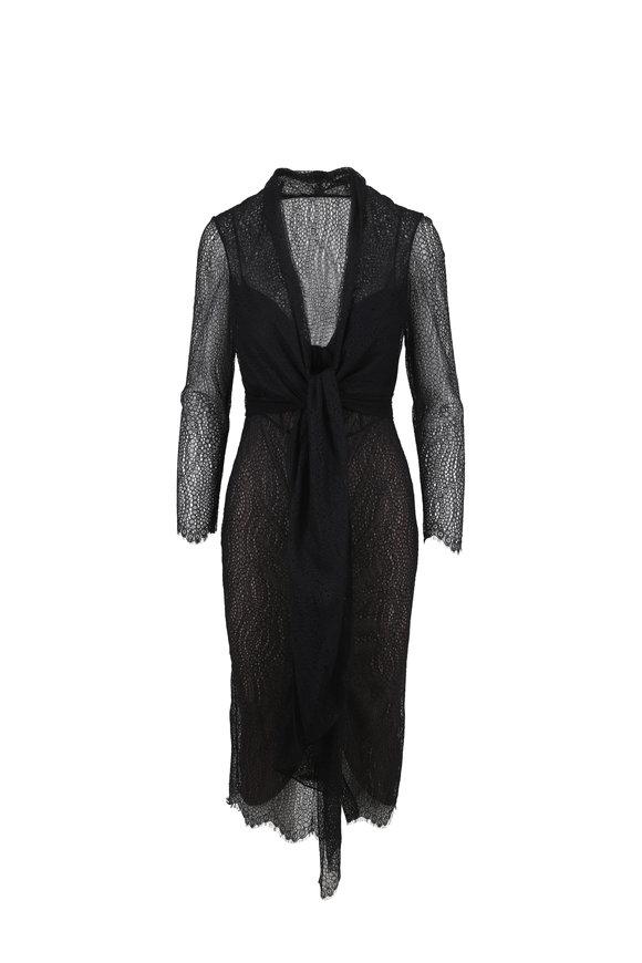 Norisol Ferrari Serena Black Poppy Lace Dress