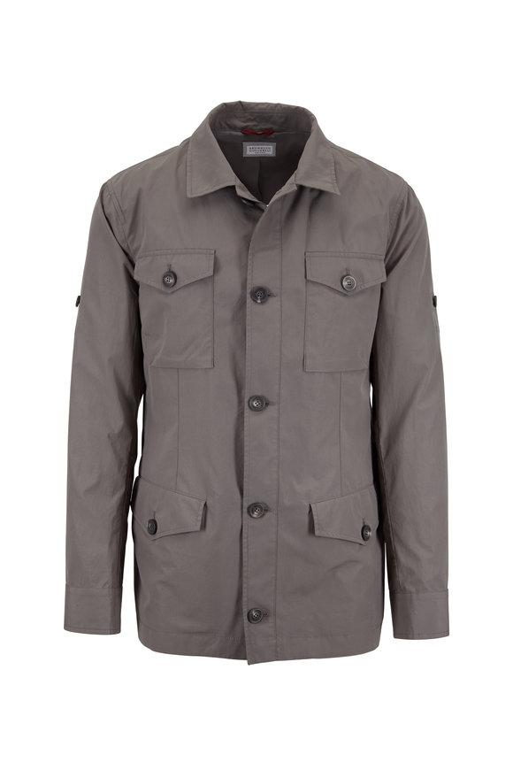 Brunello Cucinelli Army Green Safari Jacket