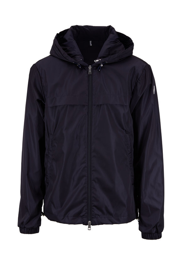 Moncler Navy Blue Double-Hooded Jacket