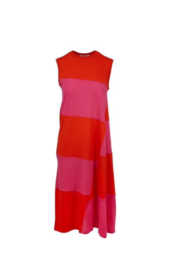 Elizabeth & James Dove Tangerine & Flamingo Color Block Dress