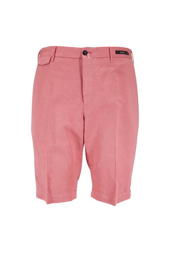 PT01 Nantucket Red Linen Blend Bermuda Shorts