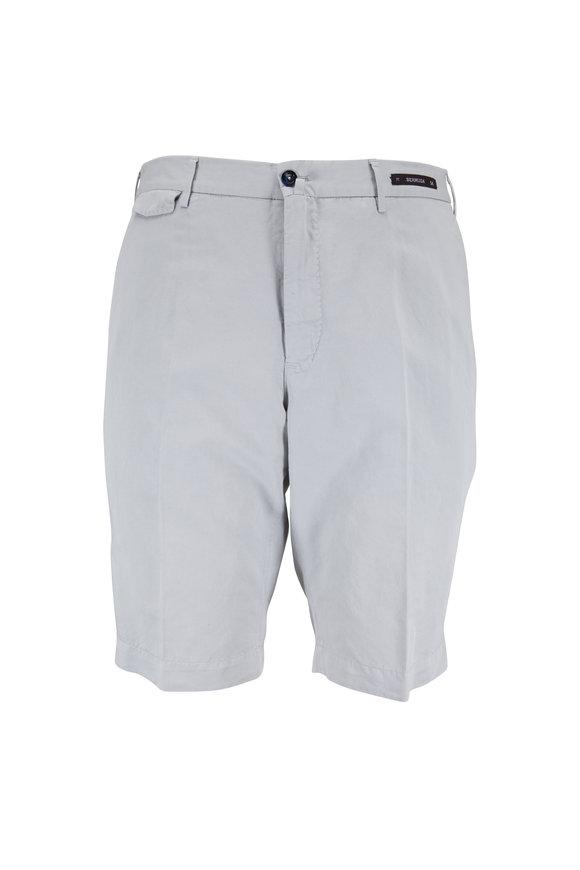 PT Torino Stone Linen Blend Bermuda Shorts