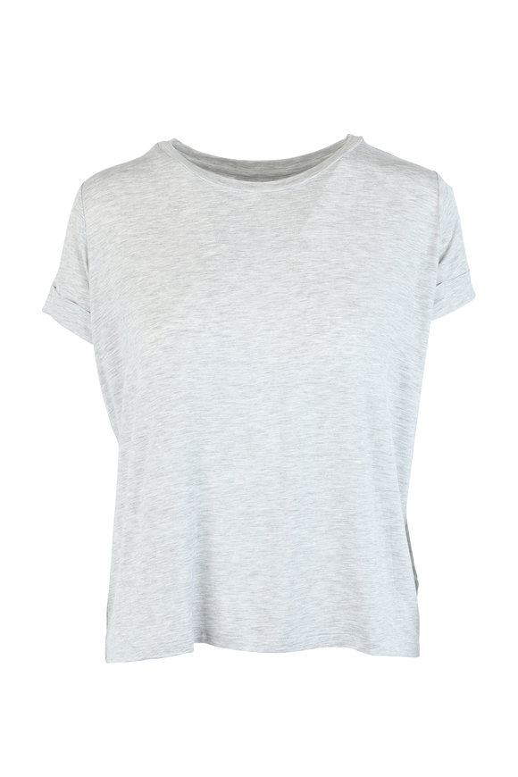 Majestic Gray Superwashed Luxe Jersey Swing Top