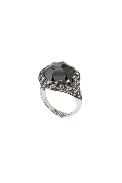 Stephen Webster - White Gold & Black Diamond Hematite Ring