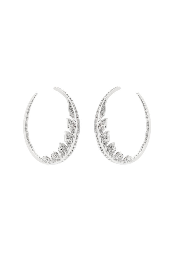 Stephen Webster 18K White Gold Mangipheasant Hoop Earrings