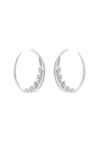 Stephen Webster - 18K White Gold Mangipheasant Hoop Earrings