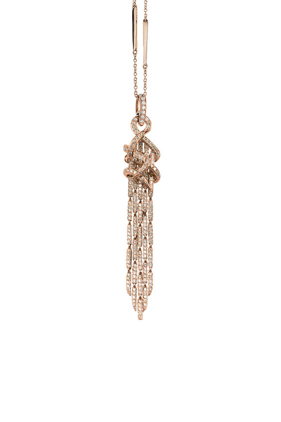 Stephen Webster 18K Rose Gold Forget Me Knot Pendant Necklace
