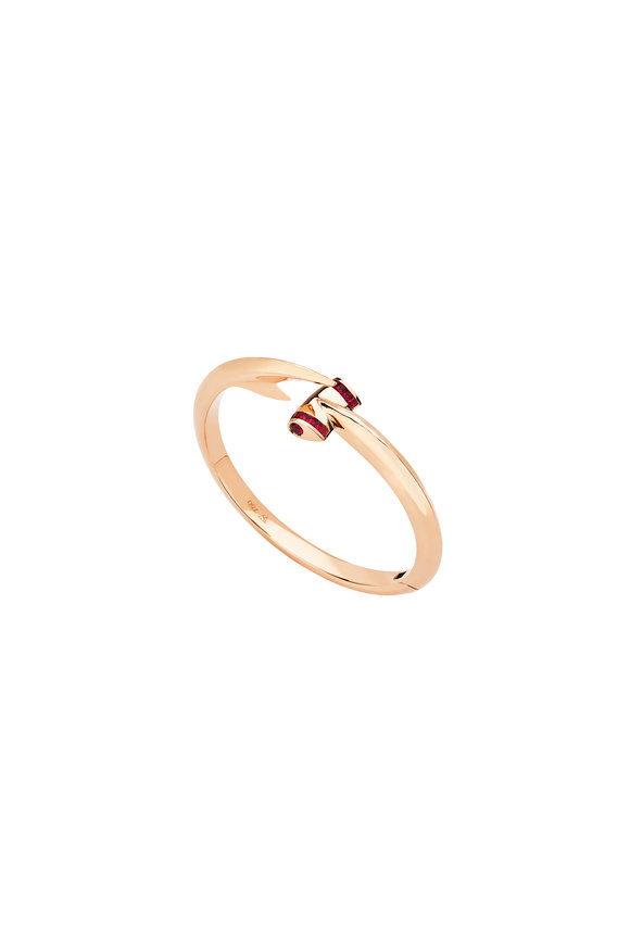 Stephen Webster 18K Rose Gold Ruby Hammerhead Bangle
