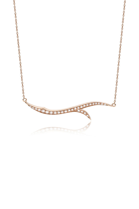 Stephen Webster 18K Rose Gold Pavè Classic Thorn Necklace