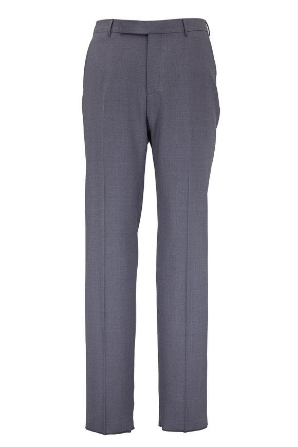 Ermenegildo Zegna High Performance Charcoal Gray Wool Pant