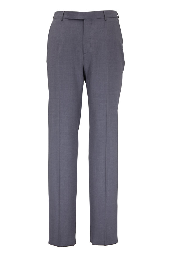 Ermenegildo Zegna Charcoal Gray High Performance Wool Pant